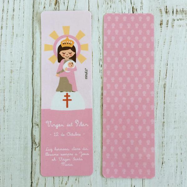 Punto libro Virgen Pilar rosa