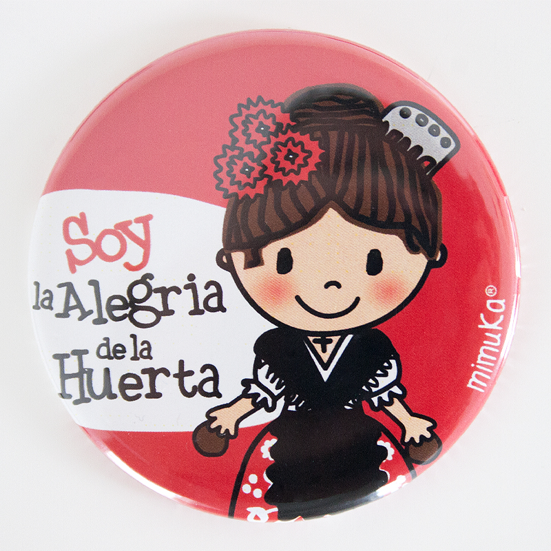 Abrebotellas-imán Huertana Soy la Alegria