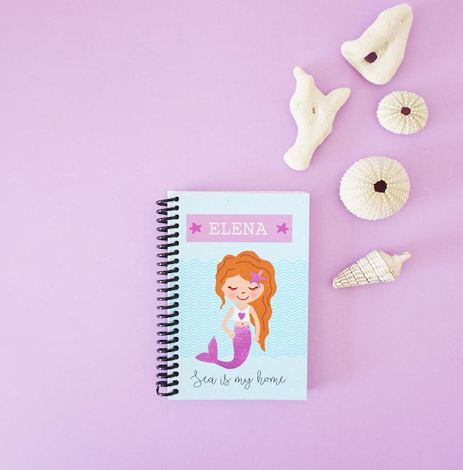 Cuaderno Sirena azul