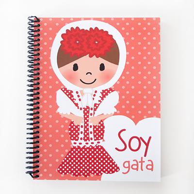 Cuaderno chulapa rojo