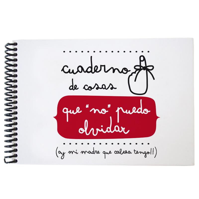 Cuaderno No olvidar