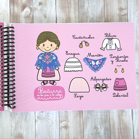 Cuaderno A5 apaisado Rosa