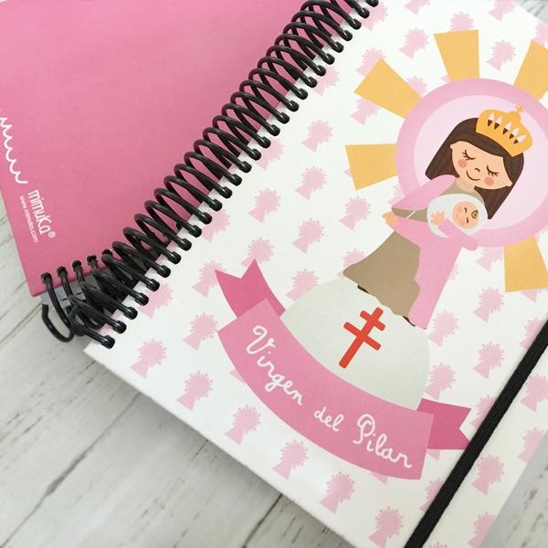 Cuaderno Virgen Pilar rosa