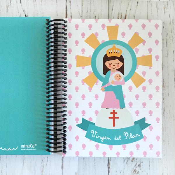 Cuaderno Virgen Pilar Verde