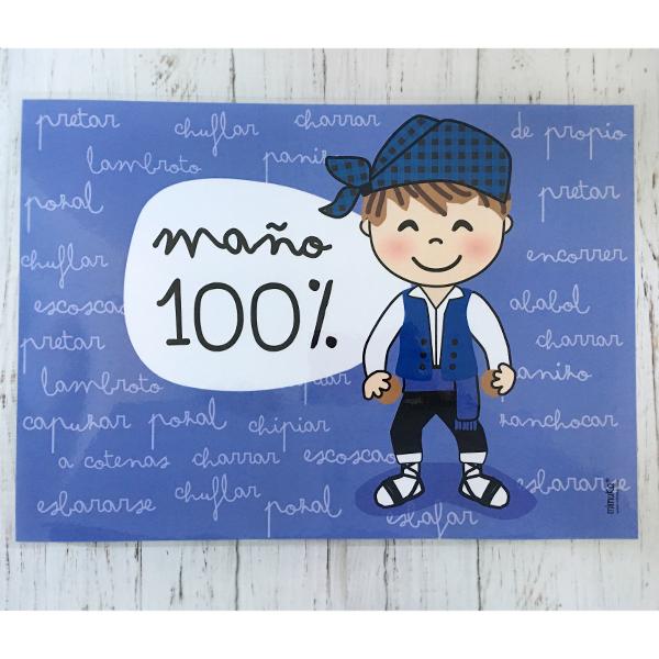 Mantel 100% Maño Azul