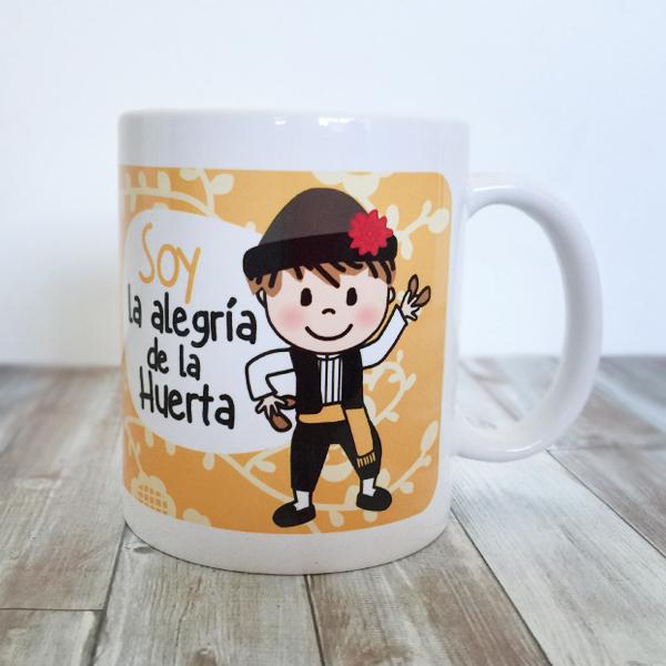 Taza Soy la Alegria de la Huerta AMARILLA