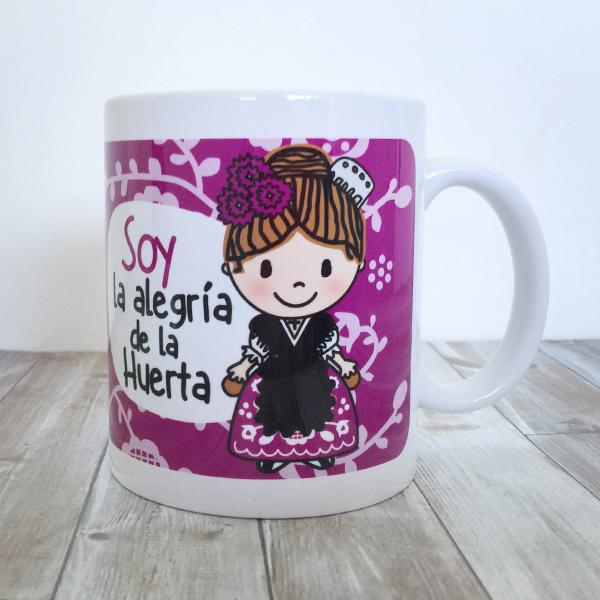 Taza Soy la Alegria de la Huerta PURPURA