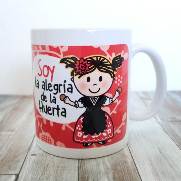 Taza Soy la Alegria de la Huerta ROJA