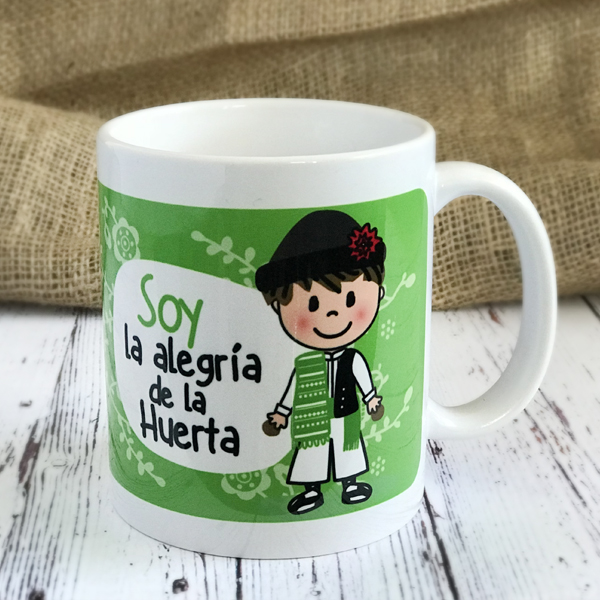 Taza Soy la Alegria de la Huerta VERDE