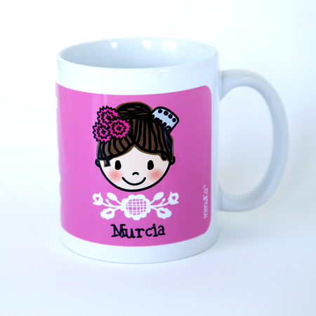 Taza Huertana -Flores ROSA