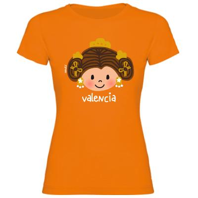Camiseta Cara Fallera Naranja
